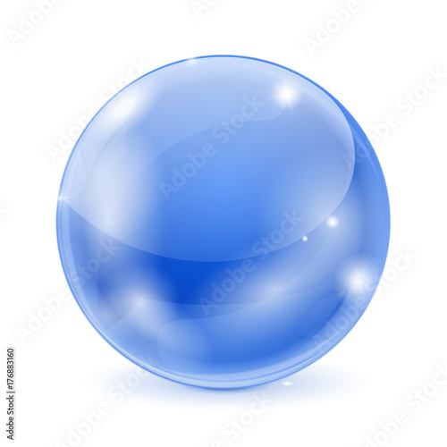 Blue glass ball