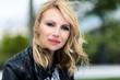 Charming blond woman portrait