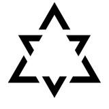 Kanizsa Triangle Illusion  illustration - 176896523