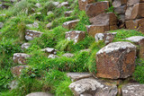 Volcanic Rock Formations at the Giants Causeway in Ireland - 176903571