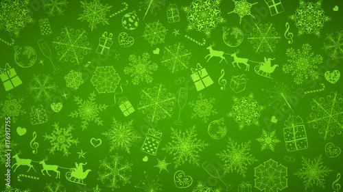 Tło płatków śniegu i świąteczne symbole