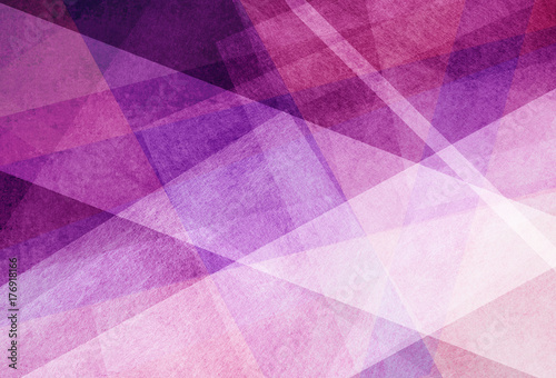 Fototapeta abstract background. purple pink and white transparent layers or diagonal stripes in random pattern