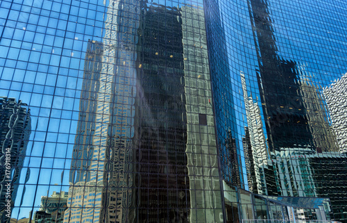 Tuinposter Chicago Skyscraper Reflections in Chicago