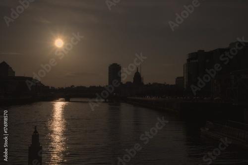 Dublin City Skyline Poster