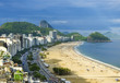 Quadro Aerial view of famous Copacabana Beach and Ipanema beach in Rio de Janeiro, Brazil