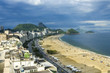 Quadro view of Copacabana beach in Rio de Janeiro. Brazil