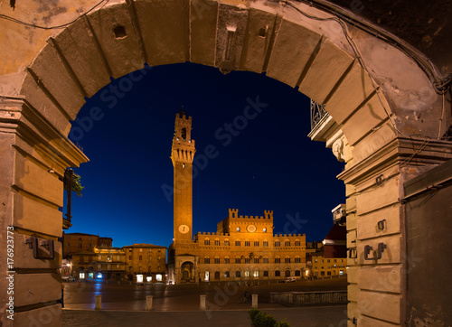 Papiers peints Toscane Piazza del Campo, Siena Tuscany