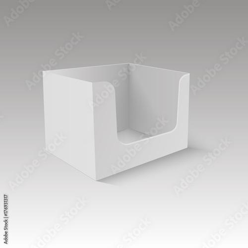 Pos poi cardboard blank empty display show box holder vector mock pos poi cardboard blank empty display show box holder vector mock up template ready for maxwellsz