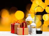 Decorative  christmas lantern - 176943323
