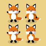 Cute fox icons icon vector illustration graphic design - 176943983