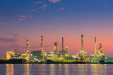 Sunrise scene at oil refinery plant, Logistics and cargo shipping - 176946711