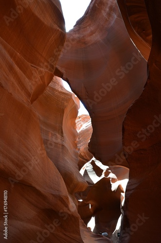 Poster Rood paars Antelope Canyon American Southwest. Arizona North America