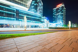 modern glass building exterior with empty pavement,copy space,shanghai,china. - 176948985