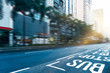 view of an urban street in central,hong kong,china. - 176949911