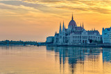 Budapest sunrise city skyline at Hungalian Parliament and Danube River, Budapest, Hungary - 176953107