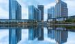 central business district of suzhou by jinji lake,jiangsu province,china.