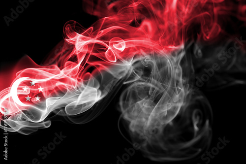 Singapore national smoke flag Poster