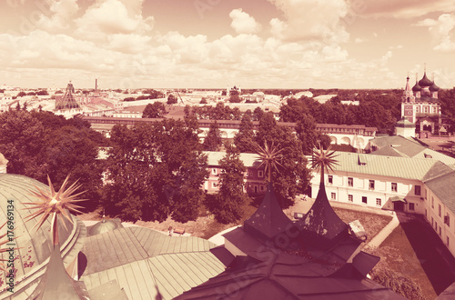 Foto op Canvas Crimson Top view of old Yaroslavl. Russia