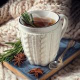 herbal tea with rosemary - 176969774