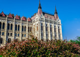 Building of Parliament in Budapest, Hungary. - 176973763