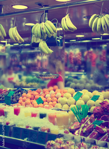 fruits on counter