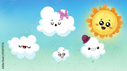 sol y nubes alegres