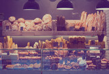 Modern bakery with different kinds of bread - 176977779