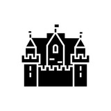 castle kingdom 3 towers icon, illustration, vector sign on isolated background - 176980371