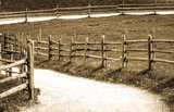 old wooden fence - 176983566
