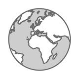 graue erdkugel - 176984371