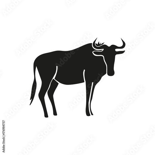 Wildebeest simple icon