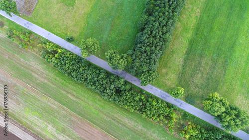 Staande foto Olijf Aerial landscape