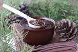 Jam from pine cones - 176987565