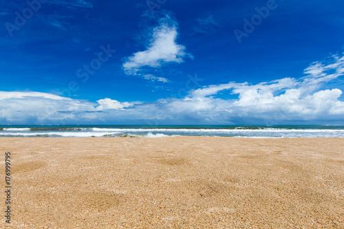 Fotobehang Tropical strand beach and tropical sea