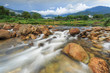 landscape of water flow though rock in river of natural vilage - 177006332