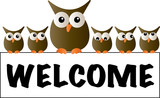 cool owls welcome header - 177007929