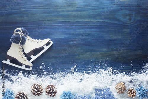 Winter Background Poster