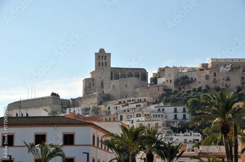 Burgberg mit Altstadt von Ibiza-Stadt