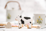 Cute hand made cookies in a shape of animals - 177015914