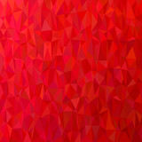Geometric abstract triangle tile pattern background - polygon vector graphic from colored triangles in red tones