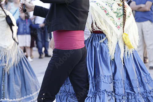 Detail of one of the folk costume of Valencia (Spain).