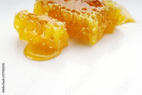 Honeycombs on a white background © o_shi