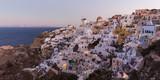 World famous Oia village or Ia at sunrise, Santorini island, Greece. - 177026504