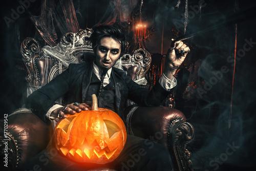 halloween and vampire Poster