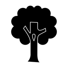 tree big icon, illustration, vector sign on isolated background