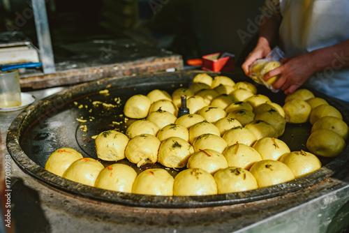 Foto op Plexiglas Peking Street food market on Beijing, China