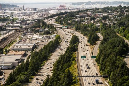 Entrée de Seattle Poster