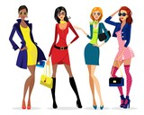 Ladies' dress. women and glasses - 177039936
