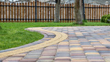Paving cube in garden, pavement