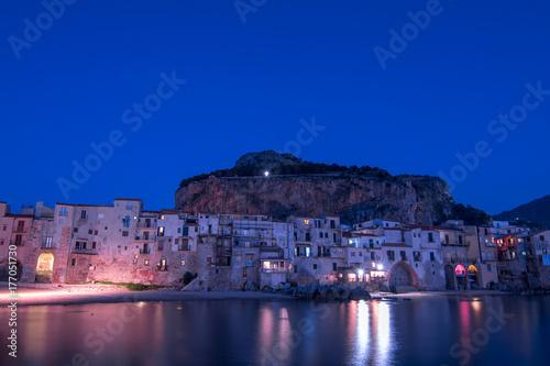 Papiers peints Bleu fonce CEFALU' - SICILIA